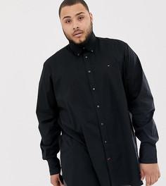 Черная рубашка классического кроя из эластичного поплина с логотипом Tommy Hilfiger Big & Tall - Черный