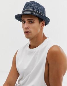 Синяя соломенная шляпа Ted Baker - Синий