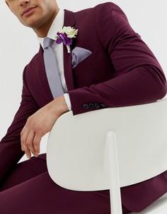 Узкий фактурный галстук и платок для нагрудного кармана лавандового цвета ASOS DESIGN - Фиолетовый