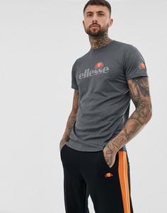 Черная меланжевая футболка с большим логотипом elllesse sport Sammeti - Черный Ellesse