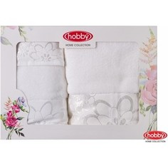 Набор из 3 полотенец Hobby home collection Dora 30x50/50x90/70x140 белое (1501001214)
