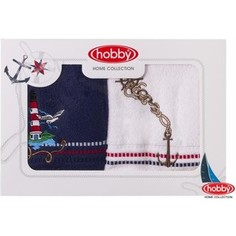 Набор из 2 полотенец Hobby home collection Marina 50x90 2 штуки сине-белый (1501001062)