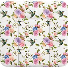 Пеленальный матрас Ceba Baby 70x75 см Flora Fauna мягкий на комод W-144(Flores W-144-099-546) (123775)