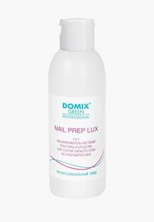 Обезжириватель для ногтей Domix и средство для снятия липкого слоя 2 в 1. NAIL PREP LUX. БЕЗ РАСТВОРИТЕЛЕЙ