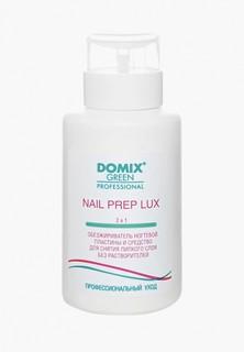 Обезжириватель для ногтей Domix и средство для снятия липкого слоя 2 в 1 . NAIL PREP LUX. БЕЗ РАСТВОРИТЕЛЕЙ С ПОМПОЙ
