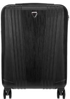 Черный пластиковый чемодан на колесах Manhattan Verage