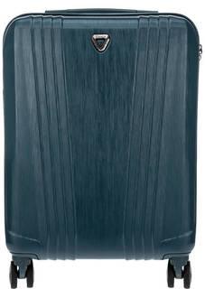 Бирюзовый пластиковый чемодан на колесах Manhattan Verage