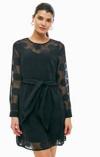 Черное платье с расклешенной юбкой Vero Moda