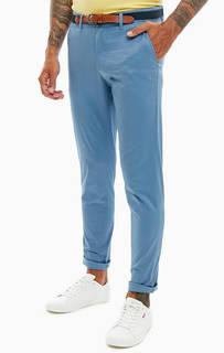 Хлопковые брюки чиносы с ремнем Selected