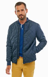 Синяя куртка с эластичным воротом Selected