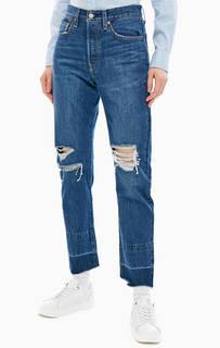 Рваные джинсы с необработанным краем 501® Original Levis
