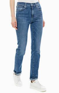 Синие джинсы с заломами 724 High Rise Straight Levis