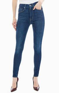 Синие джинсы с заломами Mile High Super Skinny Levis