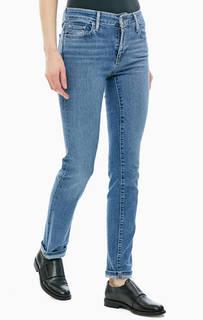 Синие джинсы с заломами 712 Slim Levis