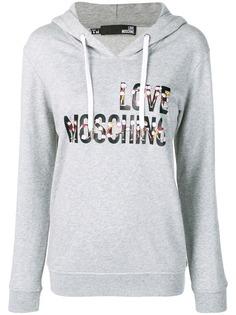 Love Moschino худи с логотипом и принтом Cheerleader Doll