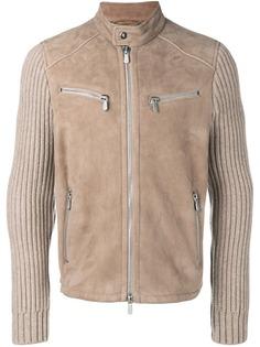Eleventy куртка с рукавами в рубчик