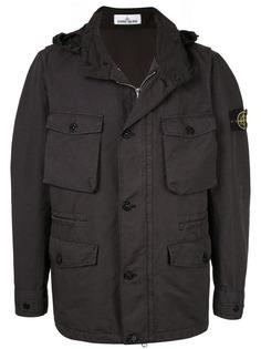 Stone Island легкая куртка со съемным капюшоном