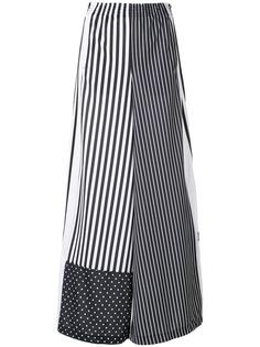 Adidas широкие спортивные брюки в полоску