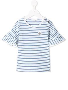Chloé Kids топ в полоску с логотипом