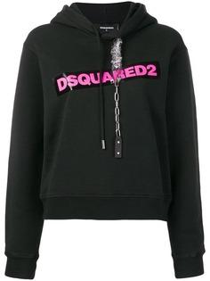 Dsquared2 худи с цепочкой и принтом логотипа
