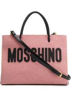 Moschino средняя сумка-шоппер с блестками