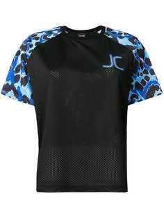 Just Cavalli спортивная футболка с леопардовым принтом
