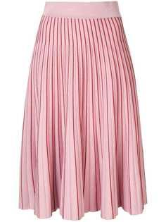 Jonathan Simkhai плиссированная юбка миди с эффектом металлик