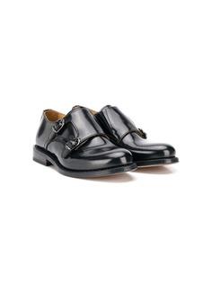 Gallucci Kids туфли с ремешком в стилистике монков