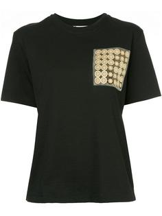 Lanvin футболка с контрастным карманом