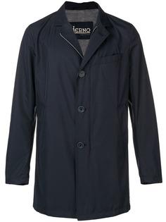 Herno однобортное приталенное пальто