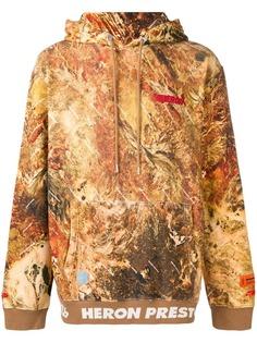 Heron Preston толстовка с капюшоном и камуфляжным принтом