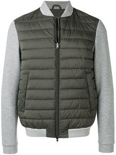Herno куртка-пуховик с контрастными рукавами