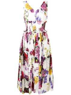 Dolce & Gabbana платье с эластичным поясом