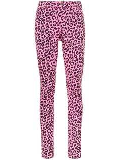 Gucci леопардовые джинсы скинни с завышенной талией