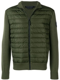 Canada Goose padded front knitted jacket