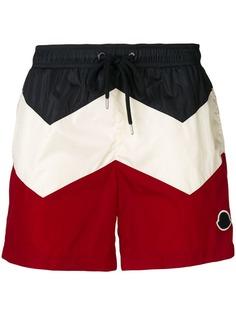 Moncler плавательные шорты дизайна колор-блок