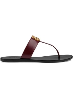 Gucci сандалии с Т-образным ремешком и бляшкой GG