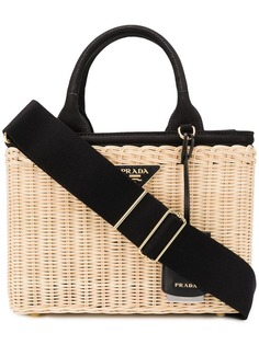 Prada пляжная сумка-тоут