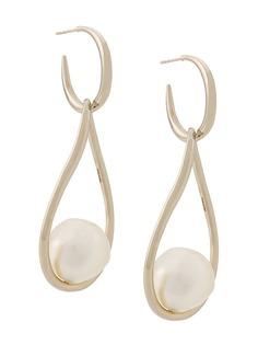 Salvatore Ferragamo baroque pearl earrings