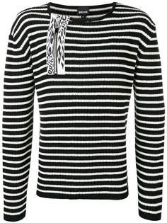 Just Cavalli свитер в рубчик с полосками