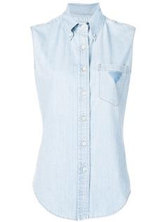 Prada джинсовая рубашка без рукавов