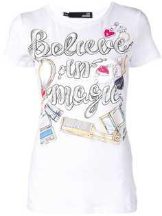 Love Moschino футболка с принтом Believe in Magic