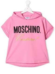 Moschino Kids толстовка с капюшоном и вышивкой Couture