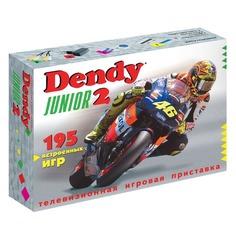 Игровая консоль Dendy Junior 2 белый в компл.: 195 игр