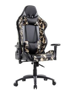 Компьютерное кресло TetChair iBrave искусственная кожа Black-Khaki