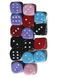 Набор для творчества Остров Сокровищ Бусины Кубики 10mm 15g 5 цветов 661231