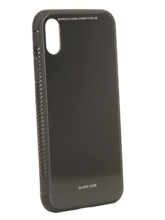 Аксессуар Чехол Liberty Project для APPLE iPhone X Glass Case Black 0L-00040353