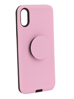 Аксессуар Чехол Liberty Project для APPLE iPhone X PopSocket Case Pink 0L-00040423