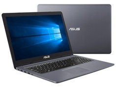 Ноутбук ASUS VivoBook Pro N580GD-DM375T Grey 90NB0HX4-M05650 (Intel Core i7-8750H 2.2 GHz/8192Mb/1000Gb+128Gb SSD/nVidia GeForce GTX 1050 4096Mb/Wi-Fi/Bluetooth/Cam/15.6/1920x1080/Windows 10 64-bit)