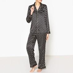 Пижама из блестящей ткани в горошек La Redoute Collections